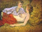 The Two Girlfriends Henri de toulouse-lautrec